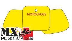 PRE CUT NUMBER PLATE HONDA CR 125 R 1991-1992 BLACKBIRD 3103/G   GIALLO