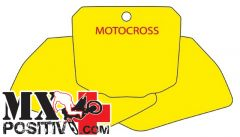 PRE CUT NUMBER PLATE HONDA CR 250 R 1997-2001 BLACKBIRD 3106/GF   GIALLO FLUO