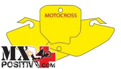 PRE CUT NUMBER PLATE HONDA CRF 150 2007-2016 BLACKBIRD 3130/N   NERO