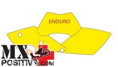 KIT ADESIVI PORTANUMERO KTM EXC 250 2005-2007 BLACKBIRD 3513/G   GIALLO