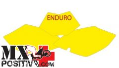KIT ADESIVI PORTANUMERO BETA RR 125 2008-2009 BLACKBIRD 3B01/GF   GIALLO FLUO