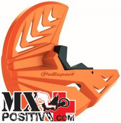 FRONT DISK PROTECTION KTM 250 SX F 2007-2014 POLISPORT P8151500003   ARANCIONE