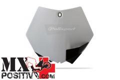 TABELLA PORTANUMERO KTM 350 SX F 2011-2012 POLISPORT P8664400007  COLORE OEM BIANCO