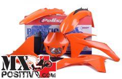COMPLETE PLASTIC ENDURO KIT KTM 350 EXC F 2012-2013 POLISPORT P90507  COLORE OEM PORTANUMERI LATERALI NON INCLUSI