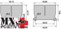 LAMELLE CARBONIO RACING V-FORCE 3 HUSQVARNA 125 TE 2014-2016 CARBONO RACING CRV1044
