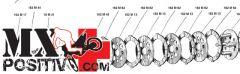 KIT DISCHI FRIZIONE COMPLETI ASPES Navajo 50cc P6 1971-1975 SURFLEX FSRS1081 CON MOLLE, BICCHIERINI E SPINGIDISCO