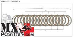 KIT DISCHI FRIZIONE COMPLETI BMW F 650 GS 2004-2005 SURFLEX FSRS2402 8 DISCHI GUARNITI + 8 DISCHI NUDI