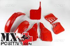 COMPLETE PLASTIC KIT HONDA CR 250 1987-1987 UFO PLAST HOKIT093061 ROSSO/RED