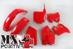 COMPLETE PLASTIC KIT HONDA CR 250 1995-1996 UFO PLAST HOKIT095067 ROSSO/RED