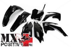 COMPLETE PLASTIC KIT HONDA CRF 450R 2011-2012 UFO PLAST HOKIT115001 USA NERO/BLACK