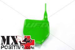 TABELLA PORTANUMERO KAWASAKI KX 250 2003-2021 UFO PLAST KA03740026 VERDE/GREEN