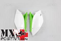 TABELLE PORTANUMERO KAWASAKI KXF 450 2009-2011 UFO PLAST KA04700999 BIANCO-VERDE/WHITE-GREEN