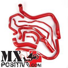 KIT TUBI SILICONE  FANTIC Caballero Motard 2010-2012 SFS MBC166R 3 tubi ROSSI / RED