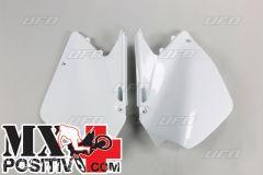 SIDE PANELS SUZUKI RM 125 2006-2021 UFO PLAST SU04900041 no USA BIANCO/WHITE
