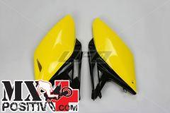 TABELLE PORTANUMERO SUZUKI RMZ 250 2010-2018 UFO PLAST SU04929D giallo-nero/yellow-black  OEM ORIGINALE 14-16