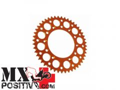 CORONA ERGAL KTM 400 EXC 2000-2011 MOTOCROSS MARKETING CO3664.48A 48 DENTI PASSO 520 SCARICO FANGO ARANCIONE