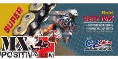 CATENA YAMAHA YZ 250 F 2003-2016 CZ CZ520MX.118 118 PASSO 520 ORO