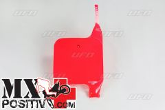TABELLA PORTANUMERO HONDA CR 125 1990-1994 UFO PLAST HO02629067  forche rovesciate/upside down ROSSO/RED 067