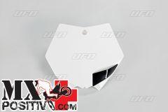 TABELLA PORTANUMERO KTM SX-F 250 2007-2012 UFO PLAST KT03093047   BIANCO/WHITE