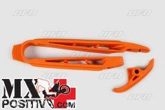 PATTINO SCORRICATENA KTM SX 125 2007-2010 UFO PLAST KT03096127   ARANCIO/ORANGE
