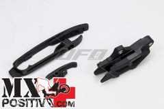 KIT CRUNA E PATTINO SCORRICATENA KTM SX 250 2011-2015 UFO PLAST KT04030001  KT04028001 + KT04029001 NERO/BLACK