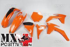 COMPLETE PLASTIC KIT KTM SX-F 250 2011 UFO PLAST KTKIT510127   ARANCIO/ORANGE