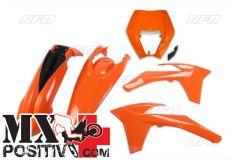 KIT PLASTICHE KTM EXC 125 2012-2013 UFO PLAST KTKIT521127  CON PORTAFARO / WITH HEADLIGHT ARANCIO / ORANGE