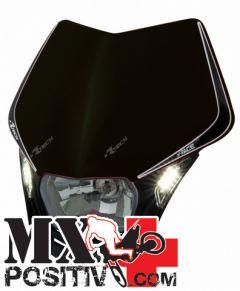 PORTA FARO V-FACE LED KAWASAKI KXF 250 2009-2012 RACETECH R-MASKNR00009   NERO