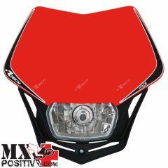 LIGHT PLATE V-FACE HONDA CRF 450 X 2004-2016 RACETECH R-MASKRSNR008   ROSSO CRF