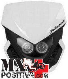 PORTA FARO UNIVERSALE LOOKOS (AUTOALIMENTATO) KTM EXC-F 250 2005-2018 POLISPORT P8659800001   BIANCO