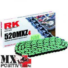 CATENA HONDA CR 125 R 1995-2007 RK EXCEL HB752033120M 120 MAGLIE PASSO 520 VERDE / GREEN